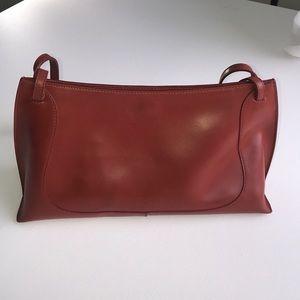 FURLA red purse two shoulder straps  snap closure